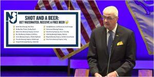 Gobernador de NJ ofrece cervezas por vacunas COVID - 19 en trece cervecerías del estado
