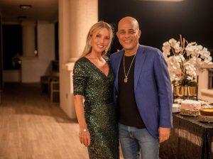 Nicolás Delrieu recibió al ex presidente de Haití Michel Martelly en su casa de Miami
