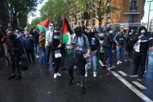 Unas tres mil personas se concentran en Bruselas en apoyo a los palestinos