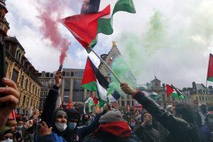 Unas 22.000 personas se manifiestan en Francia en apoyo a los palestinos