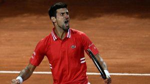 Djokovic clasifica para la final del Masters 1.000 de Roma y se enfrentará a Nadal