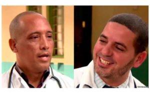 Doctores Assel Herrera Correa, especialista en medicina general y  Landy Rodríguez Hernández , cirujano. (Fuente externa)