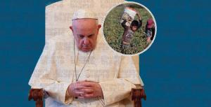 El papa critica un modelo económico que explota a las personas y los recursos