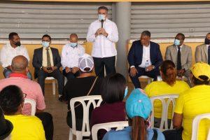 Neney Cabrera y Chú Vásquez anuncian reparación de 100 viviendas en Cristo Rey