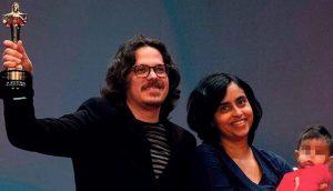 Natalia Cabral y Oriol Estrada ganadores de la categoría Director de Cine en Premios Soberano