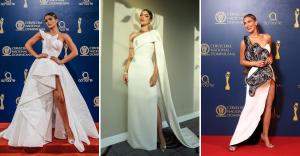 #ModaSoberana: La alfombra de Premios Soberano se viste de blanco y negro