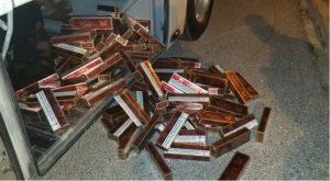 (VIDEO) Incautan dos cargamentos de cigarrillos en puestos de la frontera