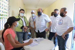 Infotep coordina jornada regional de vacunación contra el covid en Monte Plata