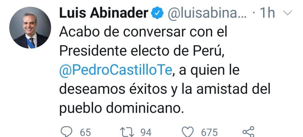 Tuit del presidente