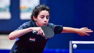 La siria Hend Zaza, la atleta más joven de Tokio 2020, eliminada en primera ronda de tenis de mesa