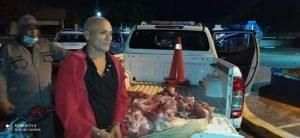 PN apresa hombre por sustracción de carne de res en Sánchez Ramírez