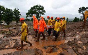 Suben a 164 las muertes por fuertes lluvias en el oeste de la India; hay un centenar de desaparecidos