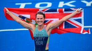 Bermudas celebra su primera medalla de oro olímpica por parte de Flora Duffy