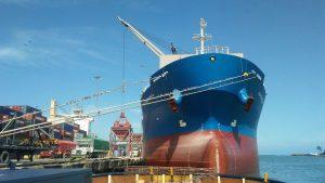 Autoridades investigan muerte de extranjero en barco carguero que llegó al país
