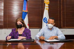 Edesur y NUVI firman convenio para contribuir a cultura de reciclaje y cuidado del medio ambiente