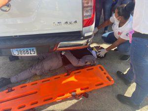 Dos policías resultan heridos en accidente de tránsito ocurrido en Bonao