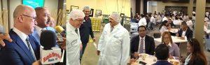 Domínguez Brito visita cientos de trabajadores industria NJ; le adaptan canción