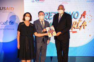 MINERD junto a UNICEF y USAID lanzan programa Retorno a la Alegría
