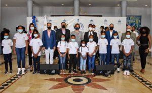 Jóvenes artistas de Boca Chica ofrecen presentación artística en Ministerio de Cultura