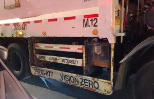 Instalarán protectores laterales a vehículos grandes en NY evitar muertes peatones