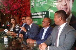 Leonel juramentará en EEUU 4,500 nuevos miembros de Fuerza del Pueblo