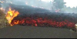 El movimiento de la lava se ralentiza y no llegará al mar esta noche