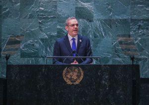 Presidente Luis Abinader exhibe en la ONU logros de su primer año de gestión