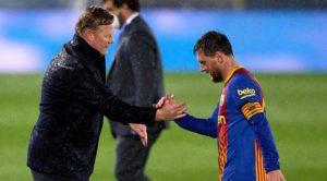 """Koeman dice que Messi """"ocultaba"""" los problemas del Barcelona"""