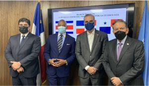 Eric Adams se reúne con Abinader y presidentes de Panamá y Costa Rica en Misión Dominicana ante la ONU