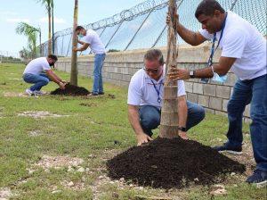 IDAC y Medioambiente realizan jornada de arborización en Complejo Aeronáutico
