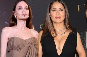 """Salma Hayek y Angelina Jolie deslumbran en el estreno de """"Eternals"""" de Marvel"""