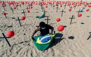 Brasil se acerca a las 604.000 víctimas por covid y los 22 millones de casos