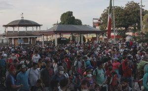 Nueva caravana de migrantes busca dejar Chiapas y llegar a Ciudad de México