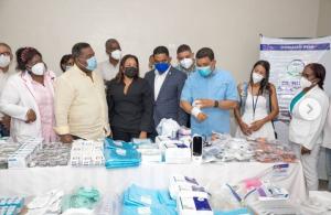 Gobernadora Drullard acompaña al Gabinete de Política Social en la entrega de medicamentos en hospitales
