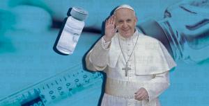 El papa recibe la tercera dosis de la vacuna contra COVID-19