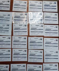 Desmantelan centro de falsificaciones de tarjetas de vacunación COVID 19 en el Cibao Central